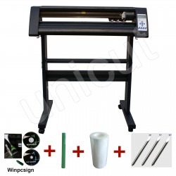 24'' black cutting plotter contour cutting vinyl sticker cutter with good quality and high precision * Winpcsign