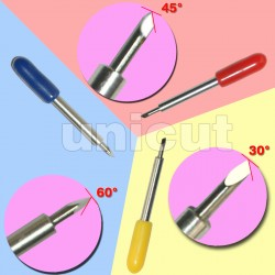 9 Pcs cutting blades(30 degree 45 degree 60 degree) for vinyl cutting plotter